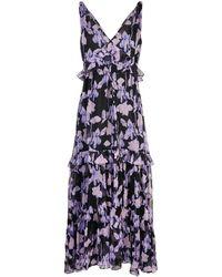 Diane von Furstenberg Vestido largo con motivo floral - Negro