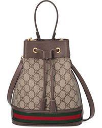 Gucci Kleine Ophidia GG Bucket Bag - Meerkleurig