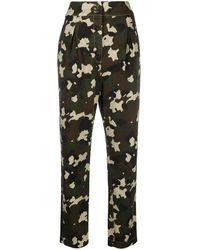 Pinko Camouflage Print Pants - Green