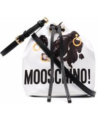 Moschino プリント バケットハット - ホワイト