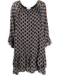 Blumarine プリント ドレス - ブラック