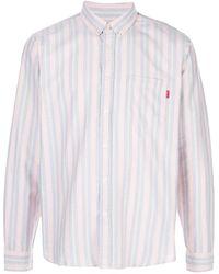 Supreme Striped Oxford Shirt - Purple