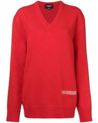 CALVIN KLEIN 205W39NYC エンブロイダリー セーター - レッド