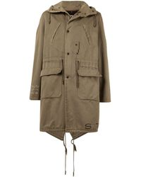Raf Simons 2003 Aw Saville Fishtail Parka Coat - Multicolour