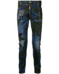 DSquared² Tidy Biker Jeans - Blauw