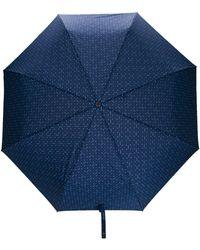 Moschino Regenschirm mit kleinen Blumen - Blau