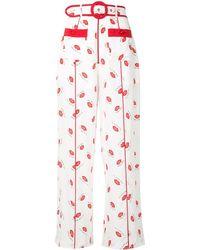 Alice McCALL Lips Print Trousers - White