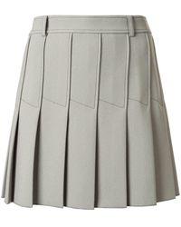 Dion Lee Column Pleat Mini Skirt - Green