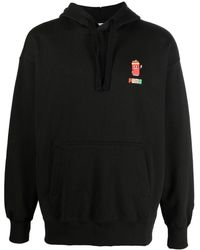 PUMA Downtown Graphic Cotton Hoodie - Black