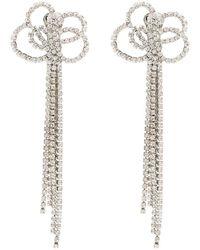 Kenneth Jay Lane Pendientes de clip con cristales - Metálico