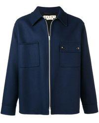Marni Zip Up Shirt Jacket - Blue