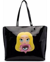 Chiara Ferragni Eye Logo-print Shoulder Bag - Black