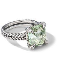 David Yurman Bague Châtelaine à diamants - Vert