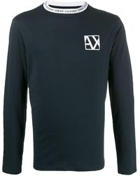 Armani Exchange ロゴ スウェットシャツ - ブルー