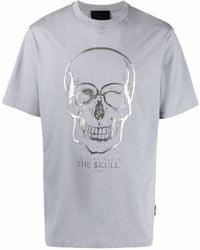 Philipp Plein Футболка С Принтом Skull - Серый