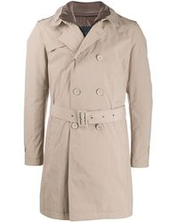Herno Double Breasted Trench Coat - Natural