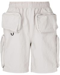 Stussy Approach Multiple-pocket Bermuda Shorts - Grey