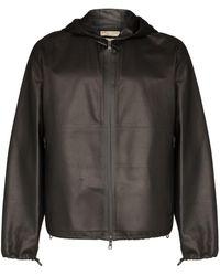Bottega Veneta Куртка Из Водоотталкивающей Ткани С Капюшоном - Черный
