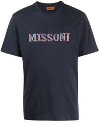 Missoni ロゴ Tシャツ - ブルー