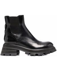 Alexander McQueen Ботинки На Рифленой Подошве - Черный