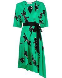 Diane von Furstenberg - Vestito midi con stampa - Lyst