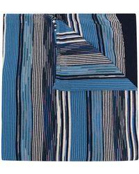 Missoni ストライプ スカーフ - ブルー