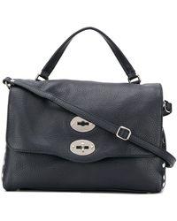 Zanellato Handtasche mit Drehverschluss - Grau