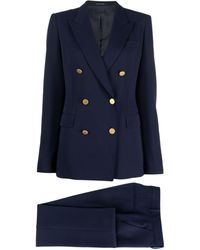 Tagliatore Two-piece Double-breasted Suit - Blue