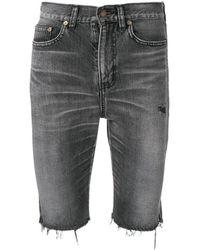 Saint Laurent Bermuda Denim Shorts - Black