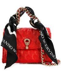 Ermanno Scervino - Mini Scarf Embellished Bag - Lyst