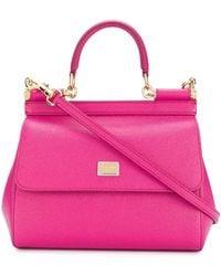 Dolce & Gabbana Маленькая Сумка На Плечо Sicily - Розовый