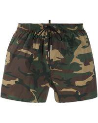 DSquared² Плавки-шорты С Камуфляжным Принтом - Зеленый