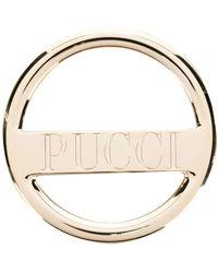 Emilio Pucci ロゴ ブローチ - メタリック