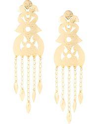Natori Crown Clip-on Earrings - Metallic