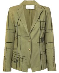 Nicole Miller - Blueprint Embellished Blazer - Lyst