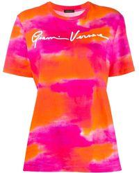 Versace タイダイ Tシャツ - ピンク