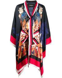 DSquared² Japanese Print Kimono - Blue