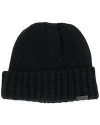 Saint Laurent Кашемировая Шапка Бини С Металлическим Логотипом - Черный