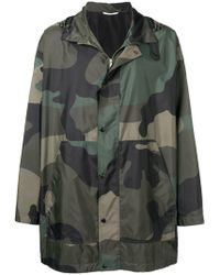 Valentino - Camouflage Hooded Coat - Lyst