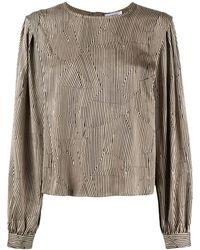 Anine Bing Полосатая Блузка Со Вставками - Многоцветный