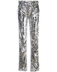 Faith Connexion Kappa Sequin Pants - Metallic