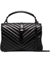 Saint Laurent Medium College Tote Bag - Black