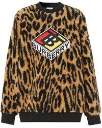 Burberry ロゴ スウェットシャツ - ブラウン