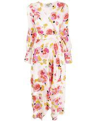 Essentiel Antwerp Valoumi Floral Wrap Dress - Pink