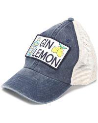 Mc2 Saint Barth Casquette Gin Lemon - Bleu