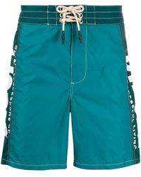 DIESEL - Wave Long Swim Shorts - Lyst