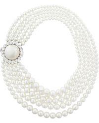 Miu Miu - Embellished Layered Necklace - Lyst