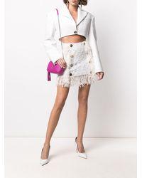 Balmain デコラティブボタン スカート - ホワイト