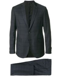 Tonello - Grid Stitched Two Piece Suit - Lyst