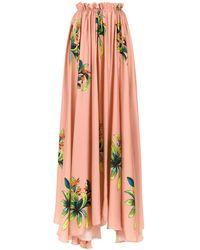 Amir Slama Long Silk Skirt - Oranje